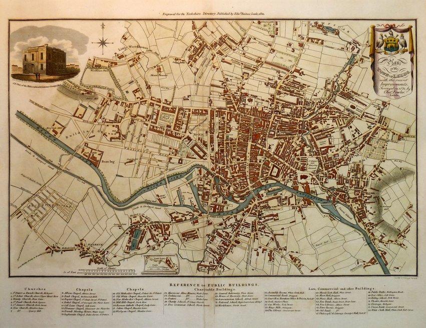 Leeds Town Plans Antique Maps Vintage Maps