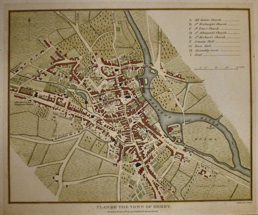Derby Town Plans Antique Maps Vintage Maps