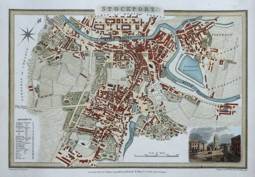 Town Plans Antique Maps Vintage Maps Old Maps York St Albans