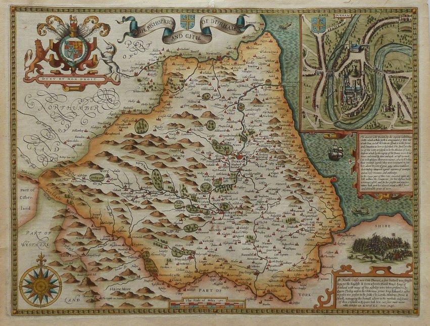 Durham Antique Maps Old Maps Of Durham Vintage Maps Of Durham UK - Vintage maps uk