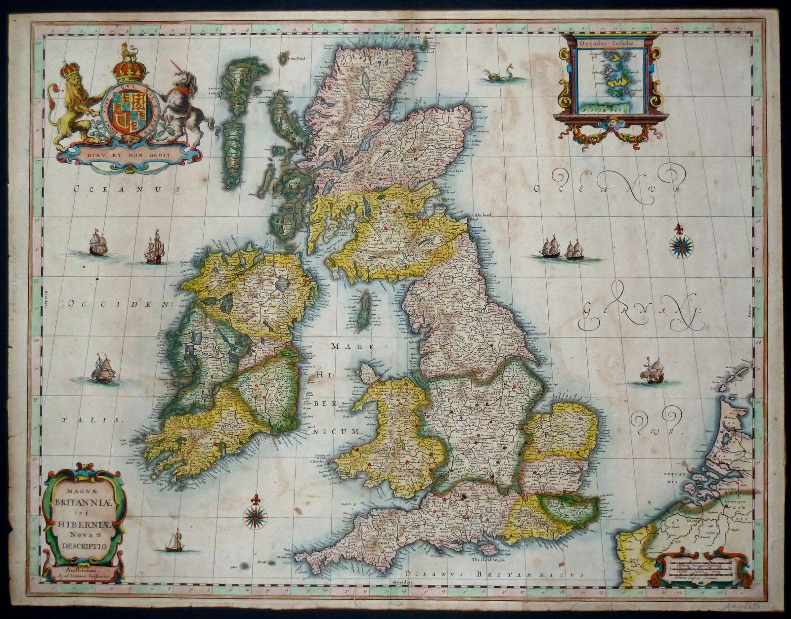 Whole Of Britain, Antique Maps, Old Maps, Vintage Maps ...