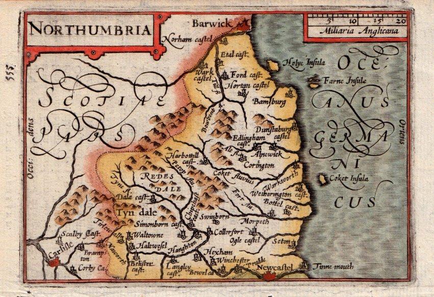 Northumberland Antique Maps Old Maps Of Northumberland Vintage - Vintage maps uk