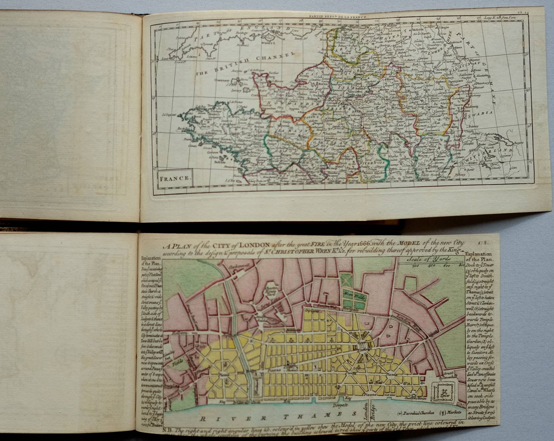 A Collection of Plans of the Principal Cities of Great Britain... together with:  A New General and Universal Atlas