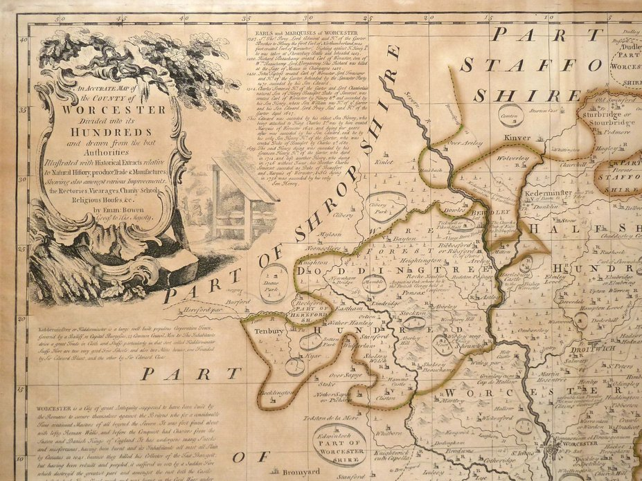 Worcestershire Antique Maps Old Maps of Worcestershire Vintage