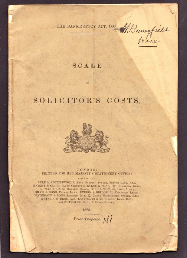 Scale of Solicitor's Costs.