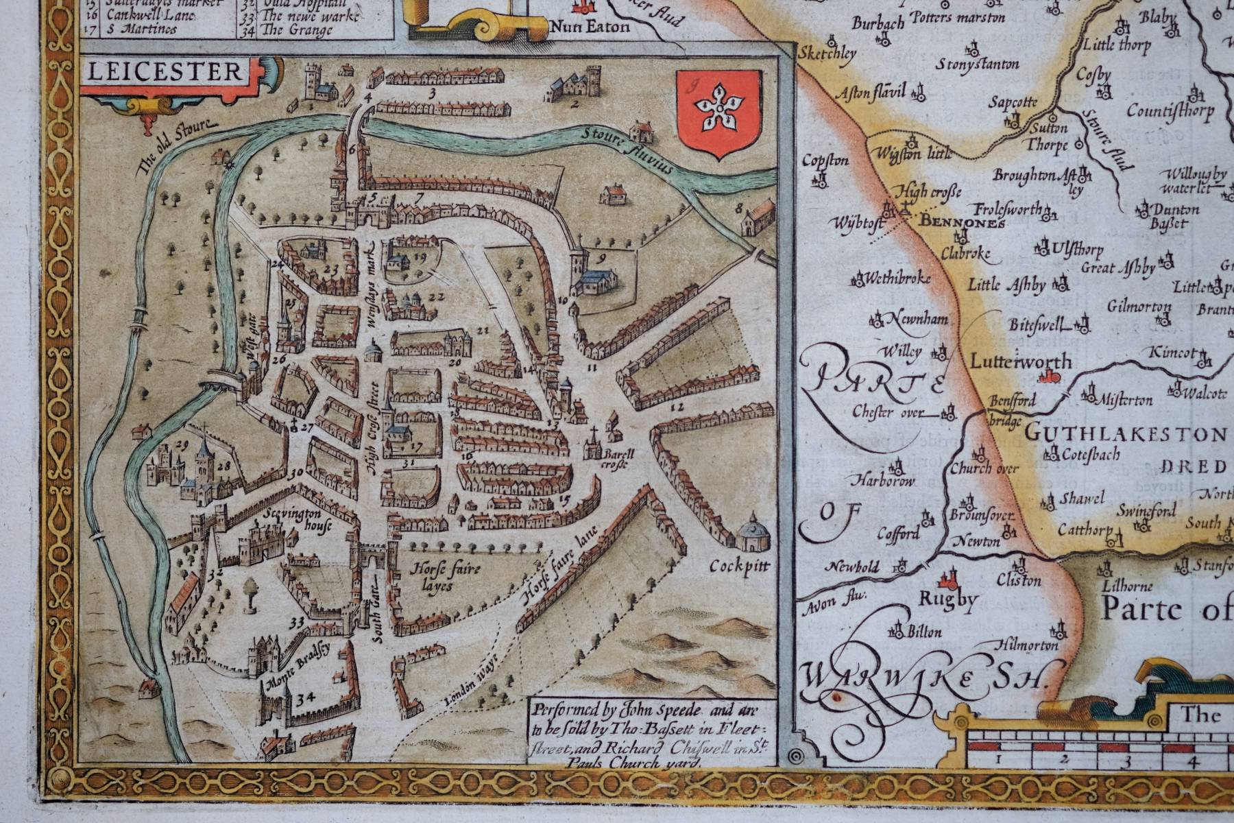 Leicestershire Uk Map.Leicestershire Antique Maps Old Maps Of Leicestershire Vintage