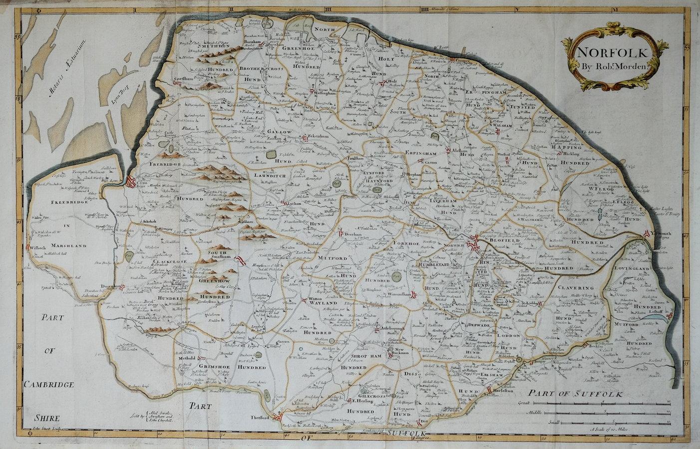 Norfolk Antique Maps Old Maps of Norfolk Vintage Maps of Norfolk UK