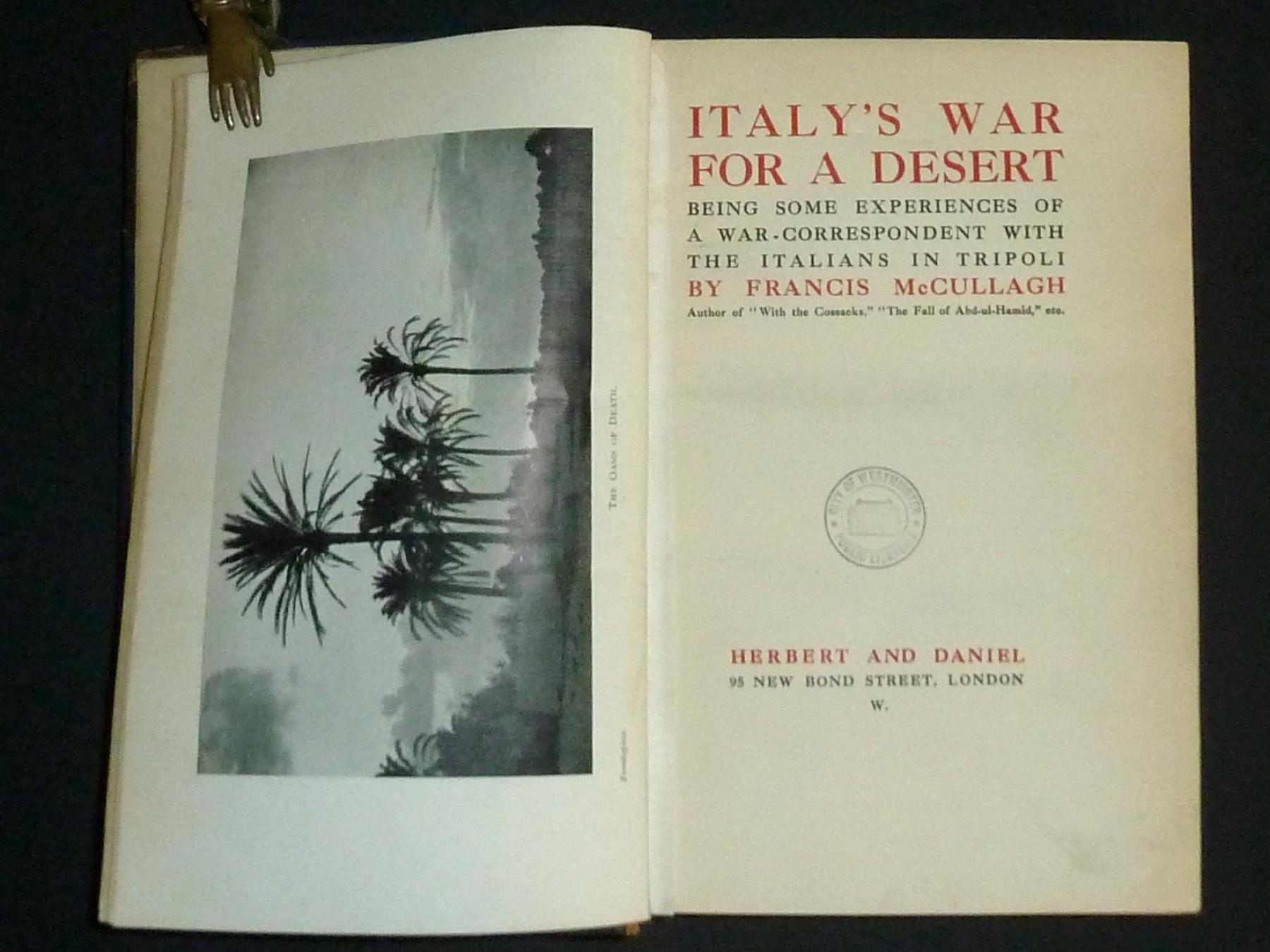 Italy's War for a Desert