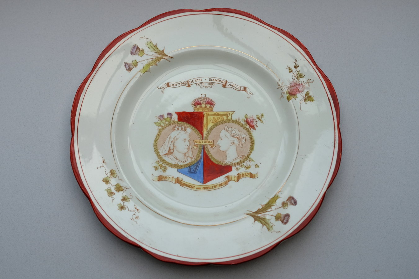 Hertford Heath Victorian Diamond Jubilee Plate