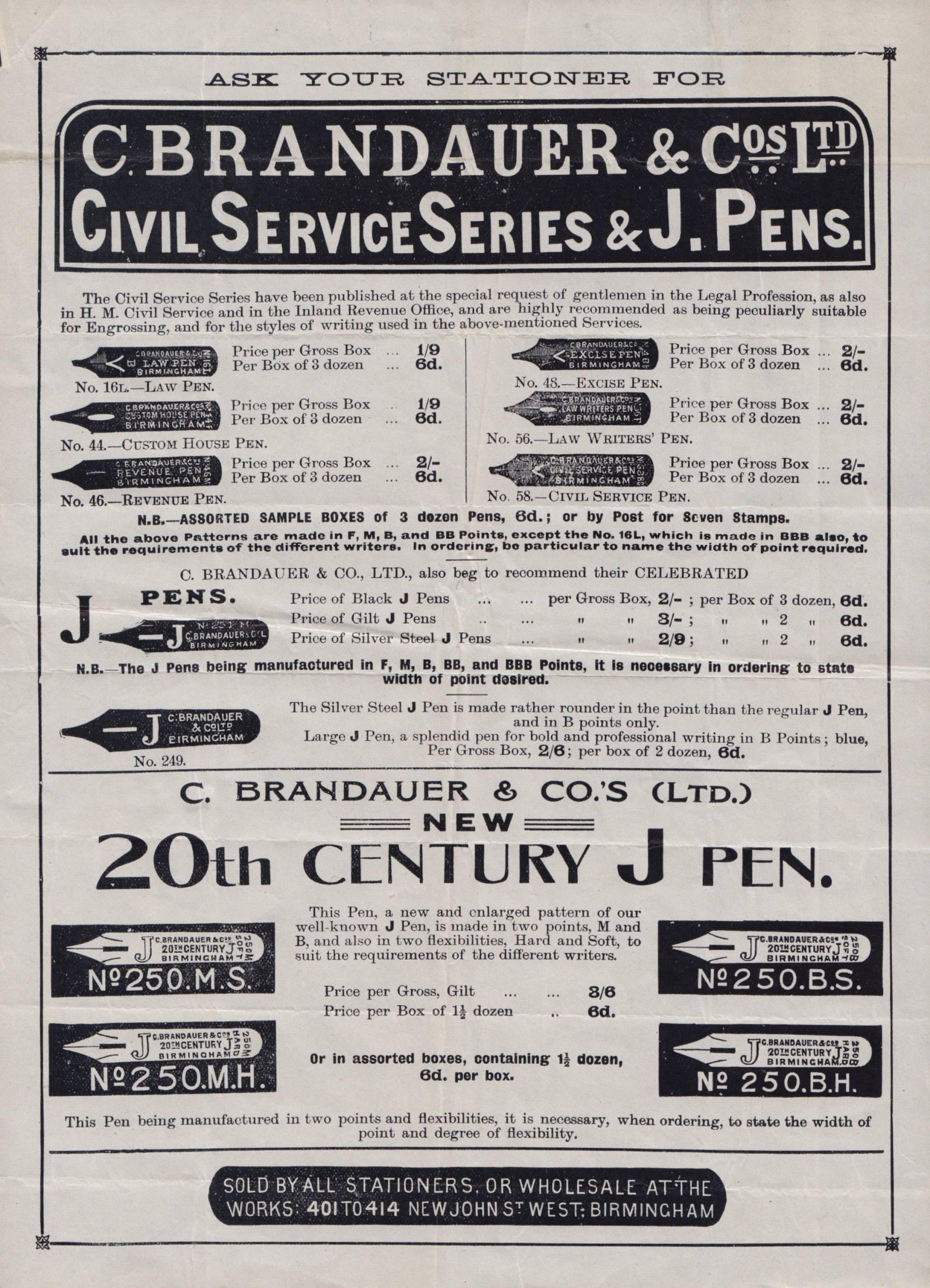 Brandauer Pen Nibs