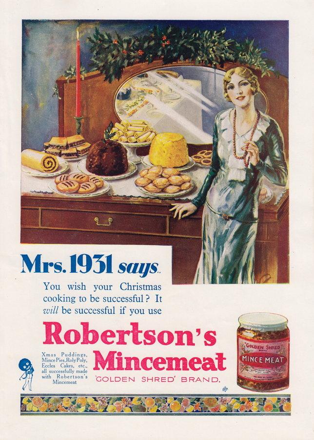 Advert. Robertson's Mincemeat