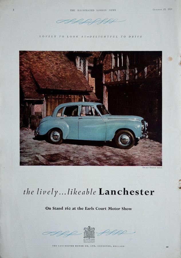 Advert. Lanchester Fourteen.