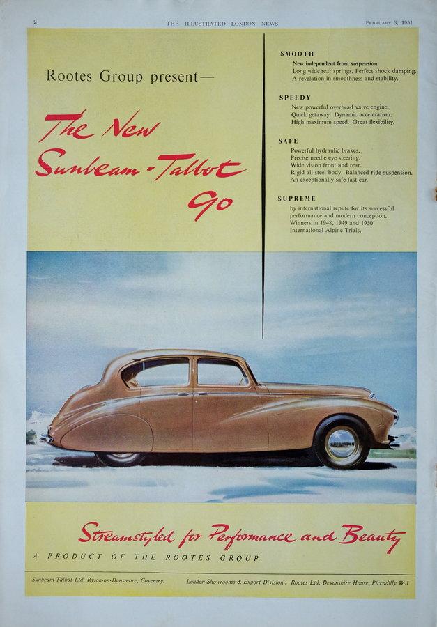 Advert. Sunbeam Talbot