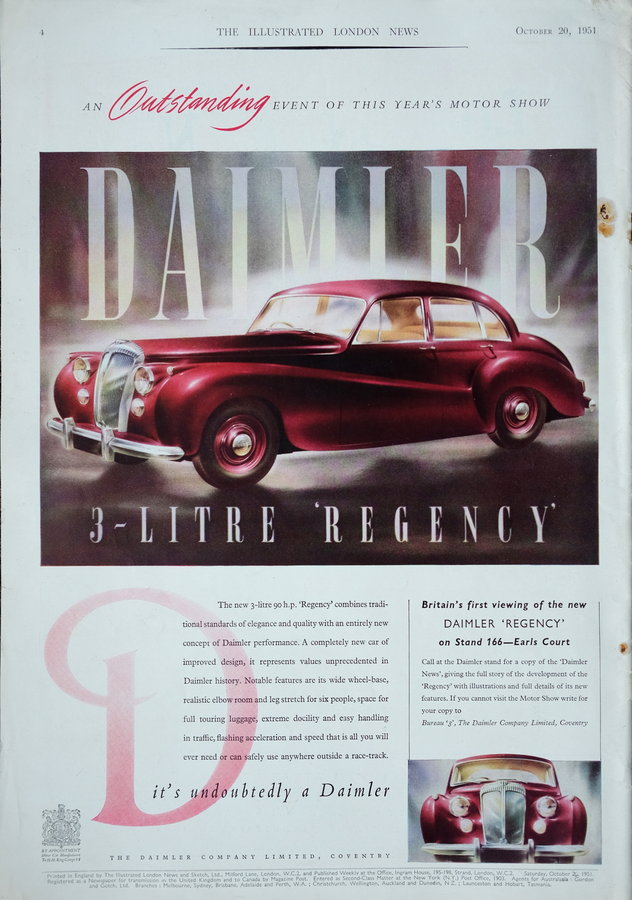 Advert. Daimler Regency