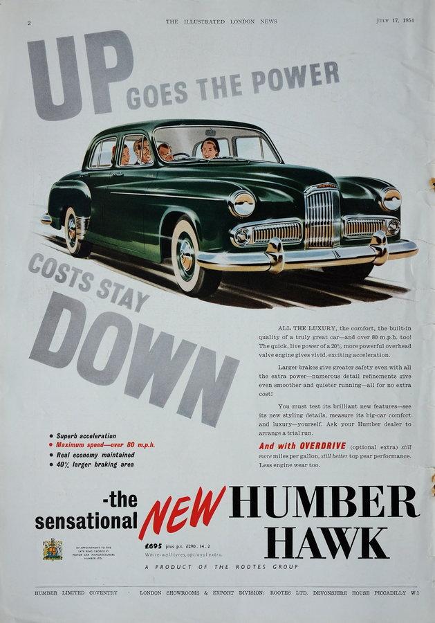 Advert. Humber Hawk