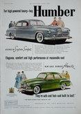 Advert's. Humbers & Vauxhalls