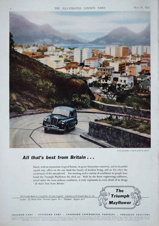 Advert. Triumph Mayfower