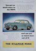 Advert. Hillman Minx