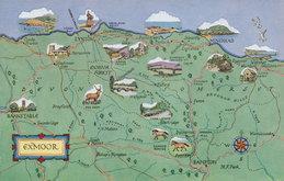 Exmoor Map Postcard
