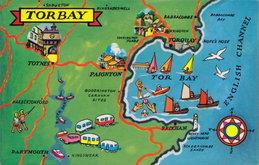 Torbay Map Postcard