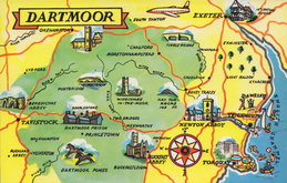 Dartmoor Map Postcard
