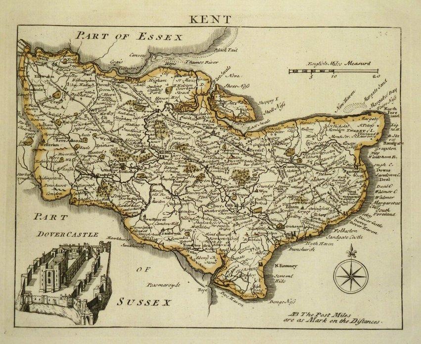 Kent Antique Maps Old Maps Of Kent Vintage Maps Of Kent UK - Vintage maps uk