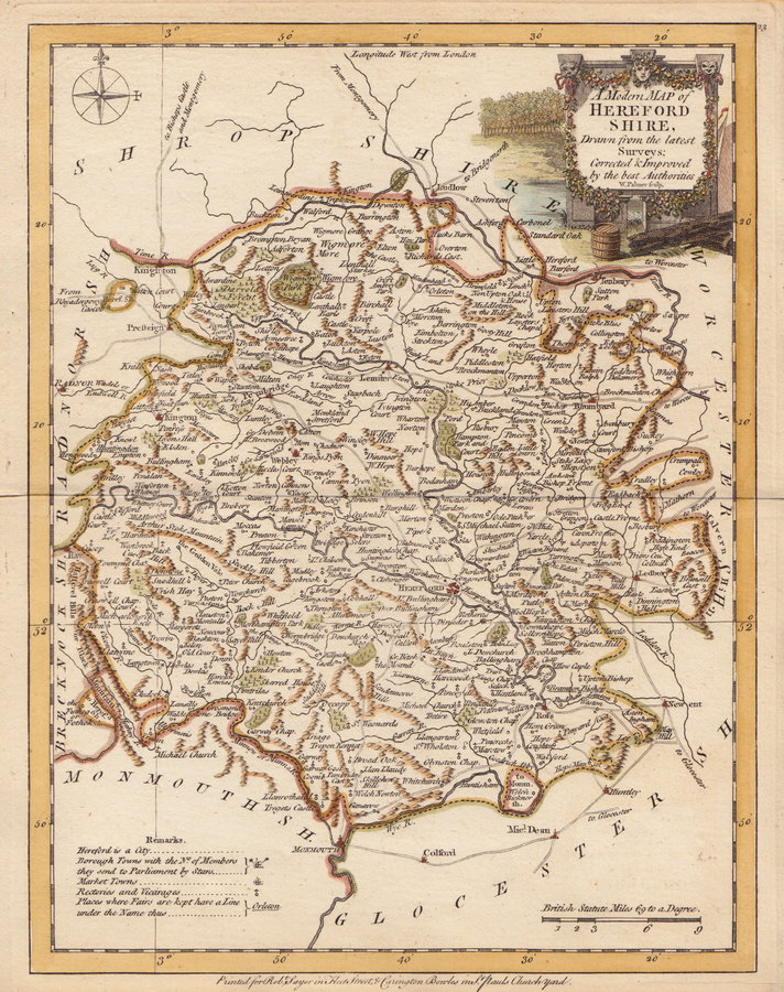 Herefordshire antique maps old maps of herefordshire vintage maps 55 joseph ellis 1773 ref 600925 publicscrutiny Image collections