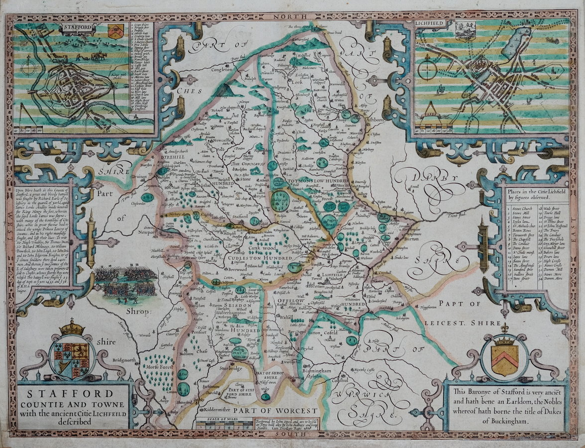 Staffordshire Antique Maps Old Maps Of Staffordshire Vintage Maps - Antique maps amsterdam