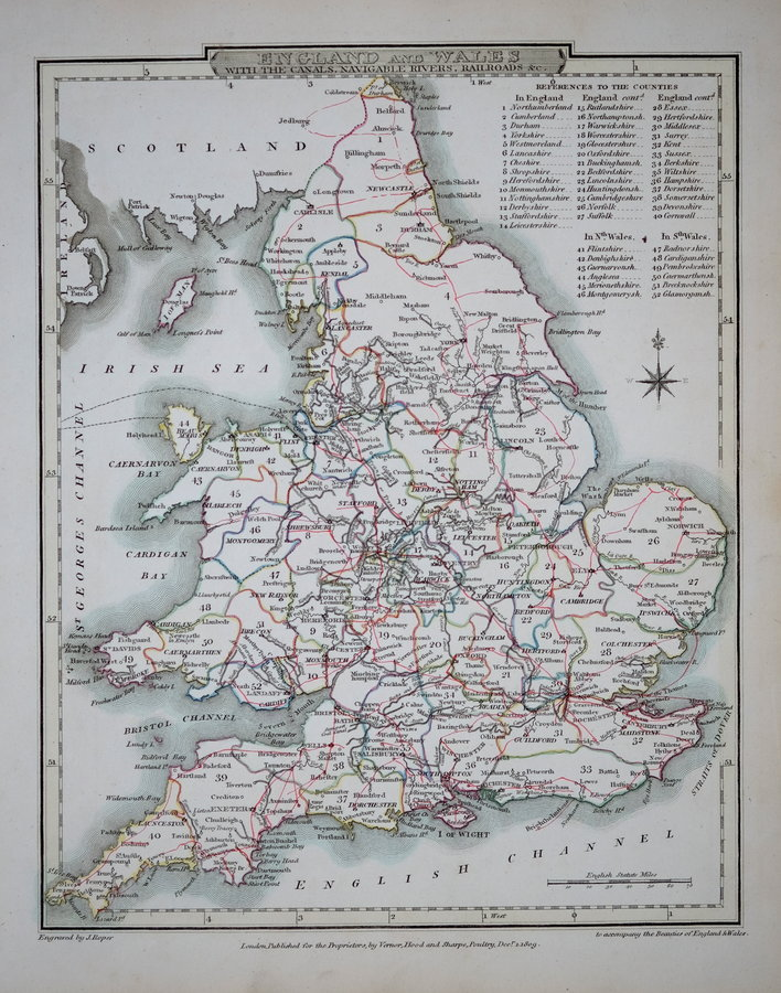 Map Of England Rivers And Canals.Waterways Railways Antique Waterway Maps Antique Railway Maps