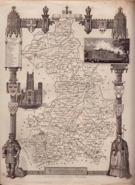 Moule's English Counties. Cambridgeshire