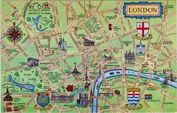 London Map Postcard