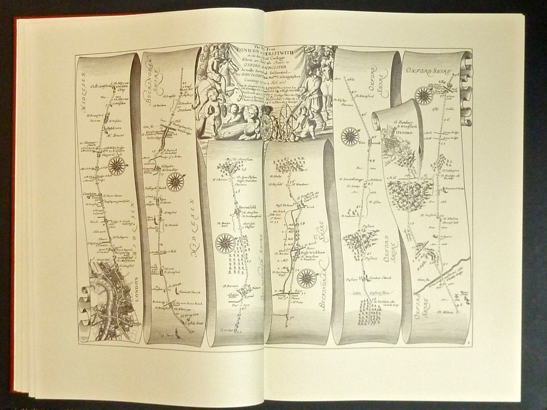 Ogilby's Road Maps