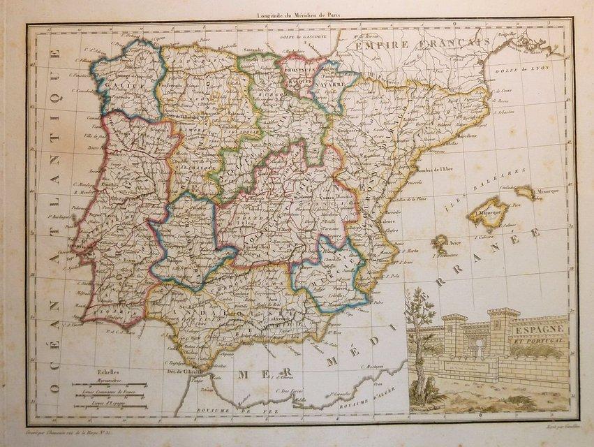 Spain & Portugal. Giraldon