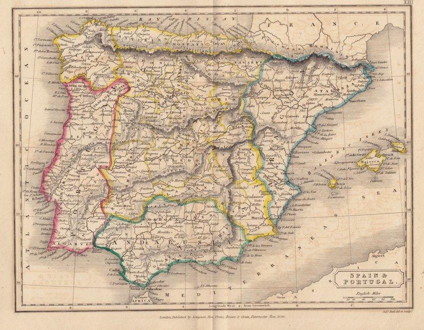 Spain & Portugal. Sidney Hall