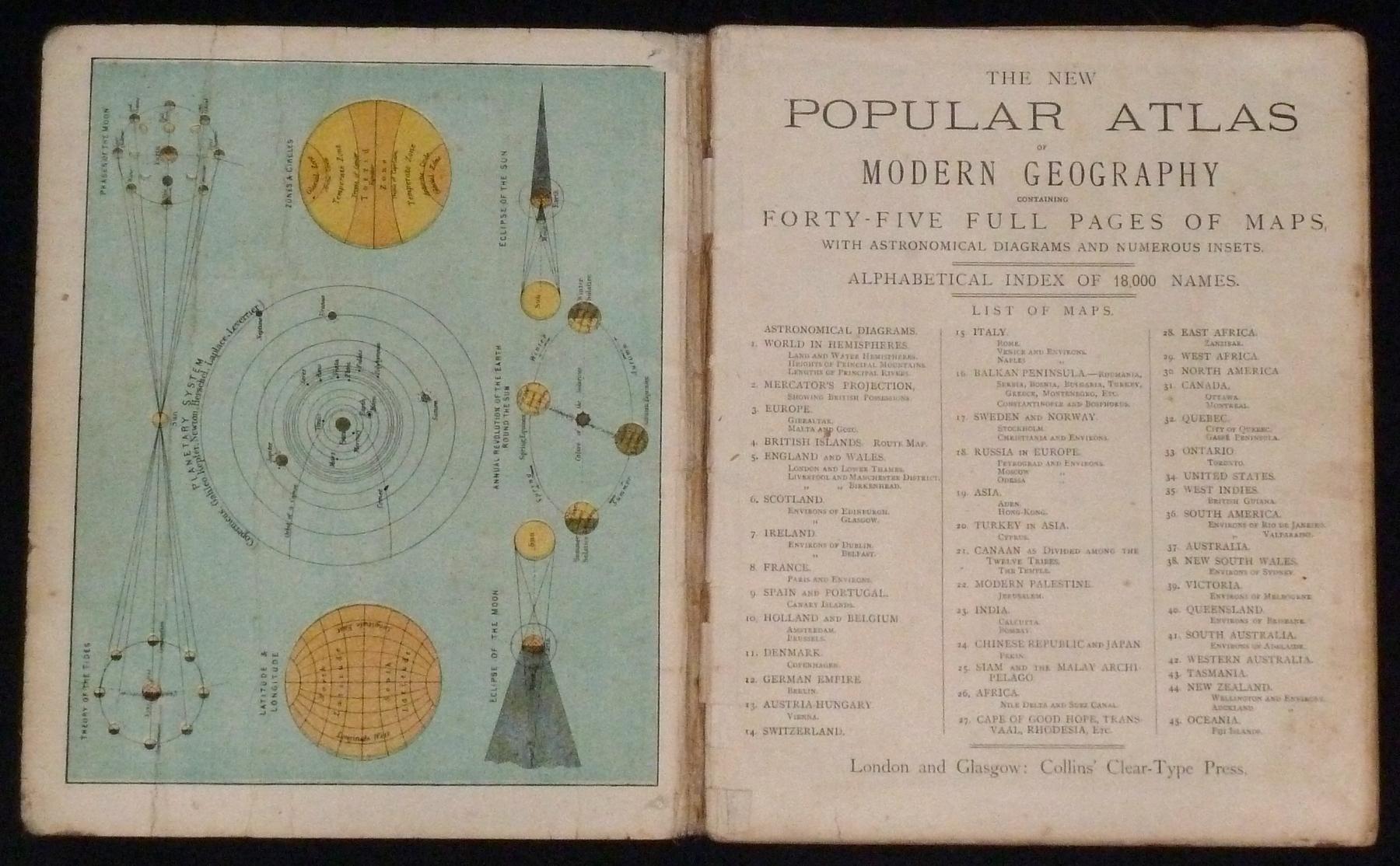 Collins' Popular Atlas