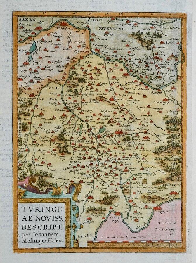 Thuringia by Ortelius.