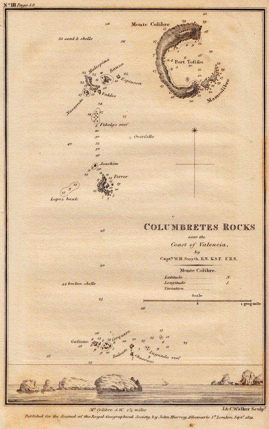 Columbretes Rocks. Captain Smyth