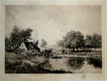 Country Scene Theodore Rousseau