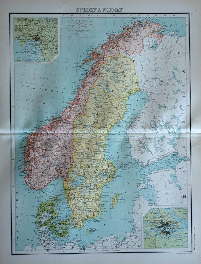 Sweden & Norway by Bartholomew