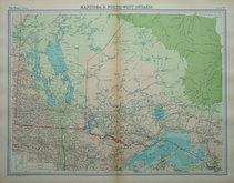 Manitoba & Ontario by Bartholomew