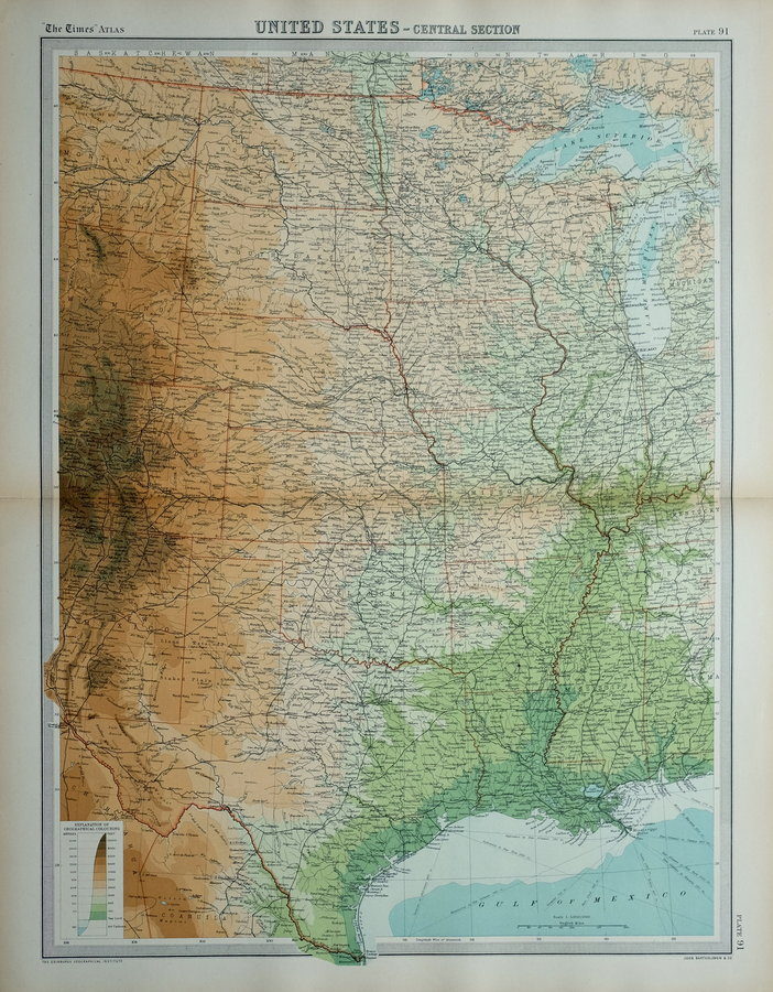 Central United States by Bartholomew
