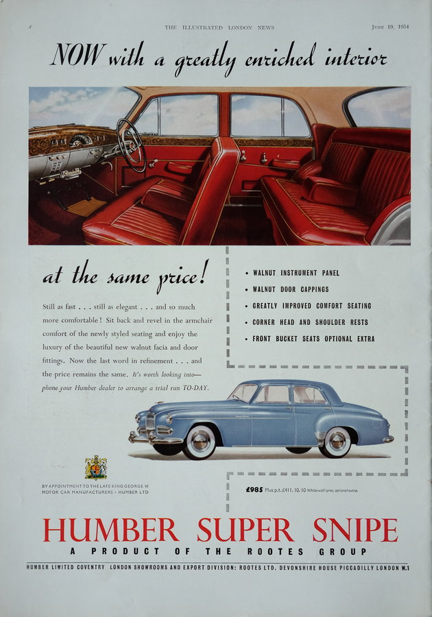 Advert. Humber & Shell