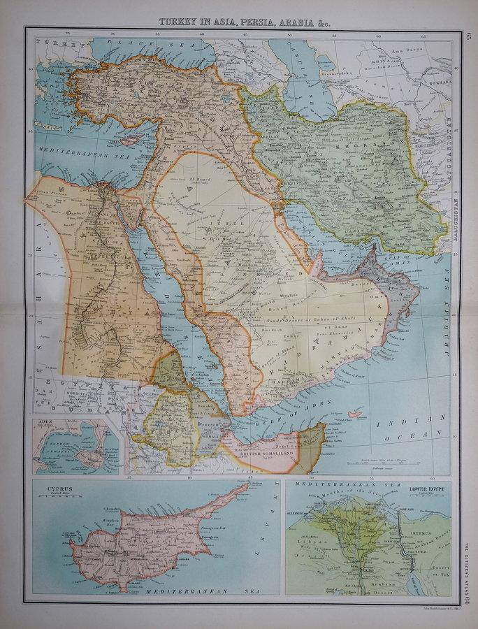 Turkey and Arabia by Bartholomew