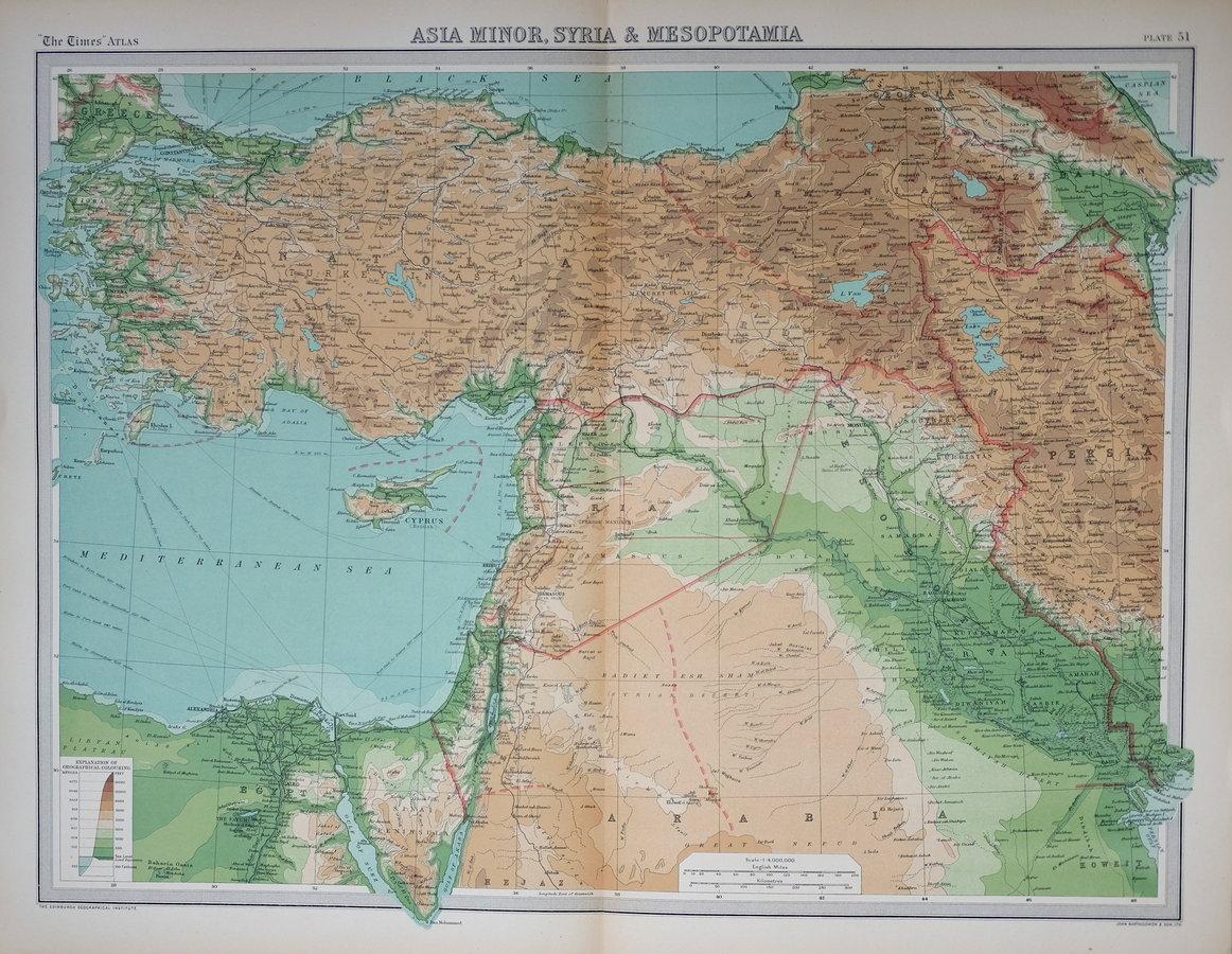 Asia Minor by Bartholomew