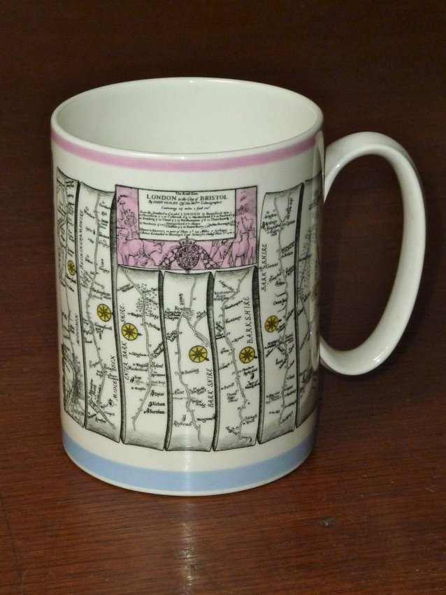 Wedgwood Mug Ogilby Road Map