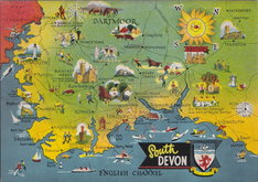 South Devon Map Postcard