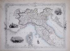 North Italy & Corsica. Rapkin