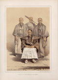 Four Samurai of the Matsumae clan Hokkaido Japan