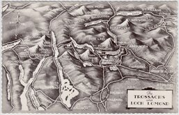 The Trossachs Map Postcard