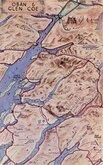 Oban & Glen Coe Map Postcard